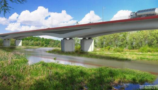 Most nad Wisłokiem   Droga Południowa w Rzeszowie