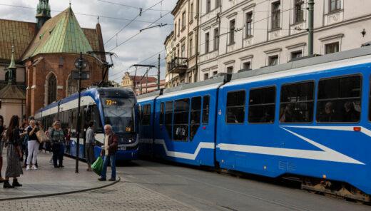 linie trawajowe w Krakowie